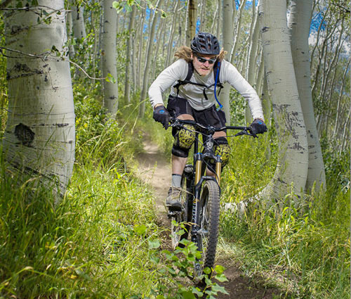 Mark riding his mountain bike