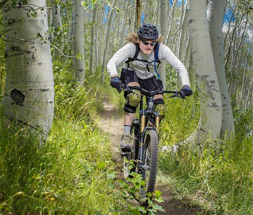 Mark riding his mountain bike